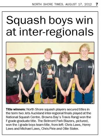 Squash boys win at inter-regionals