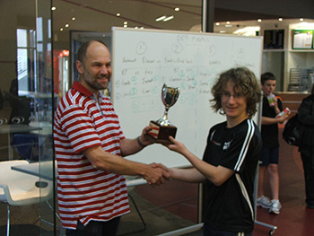 Junior team cup presentation